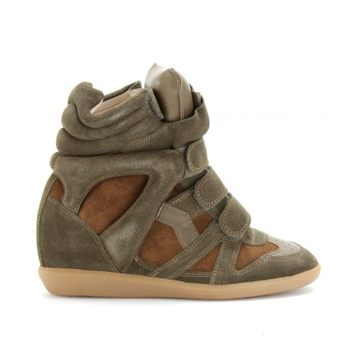 Upere_Wedge_Sneakers_Suede_Green_Coffee