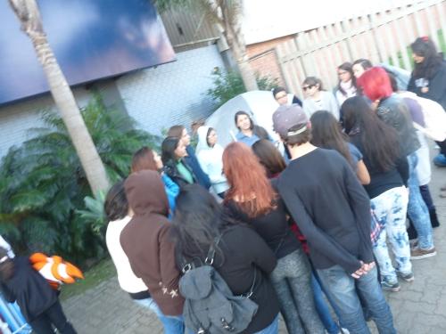 reunião lovatic durante nossa reportagem