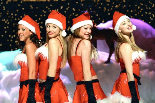 Mean Girls (2004) (l to r) Lacey Chabert, Rachel McAdams, Lindsay Lohan, Amanda Seyfried